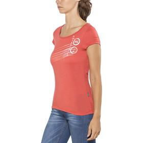 Kaikkialla Tytti Drirelease Camisa Manga Corta Mujer, salmon
